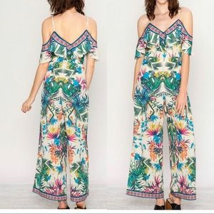 Flying Tomato Tropical Floral Jumpsuit Size S